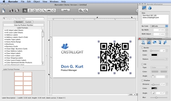Mac Barcode Generator from Cristallight Software 3 3 0 Released