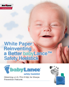 New White Paper Describes babyLance Safety Heelstick 510(k