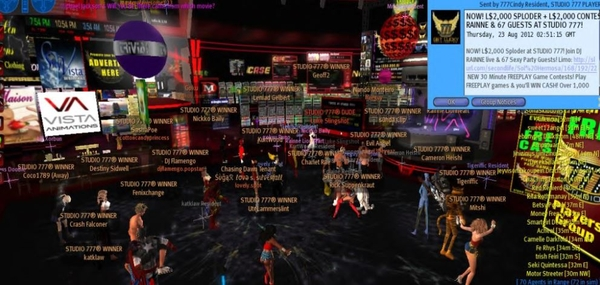 STUDIO 777 in Second Life Closes Initial Public Offering On Capital