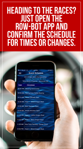 Race-Connection com Launches A Dragon Boat Racing Schedule App Named