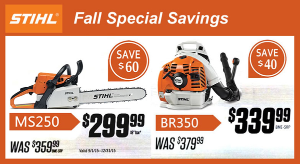 Empire Seed Announces Fall Savings on Echo and Stihl Chain