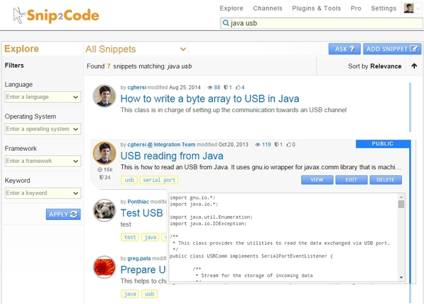 Snip2Code Brings Code Snippets Sharing to the Enterprise Level