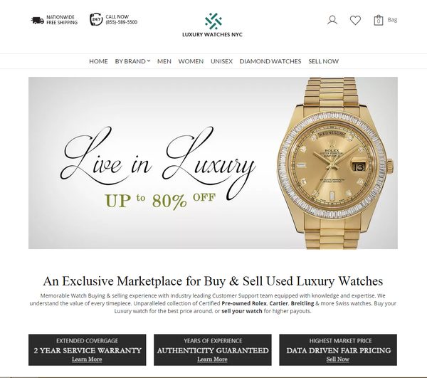 Luxury Watches NYC Corp  Unveils New E-commerce Marketplace