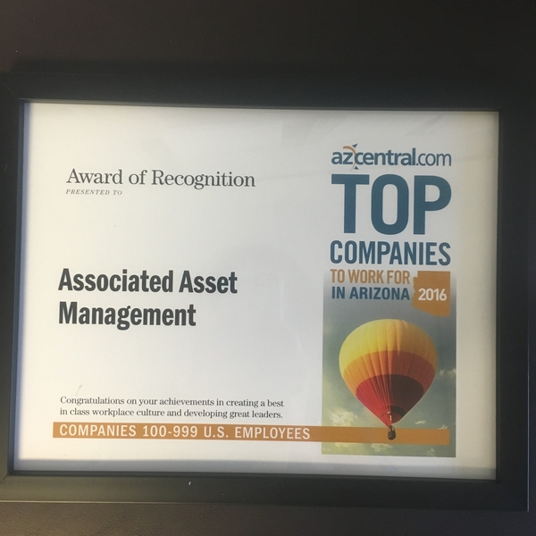Associated Asset Management was Selected as One of the 2016