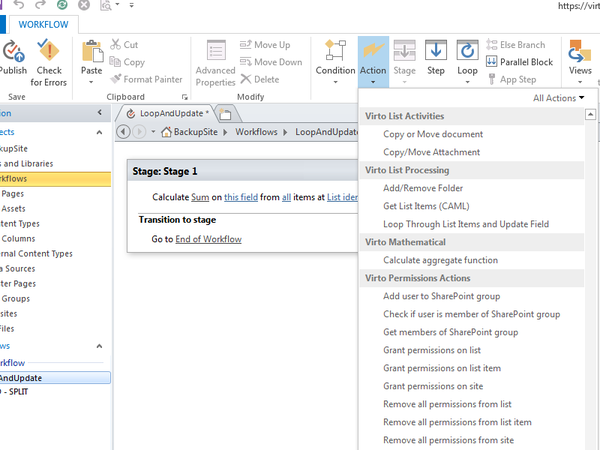 office 365 workflow activities kit for processes automation in
