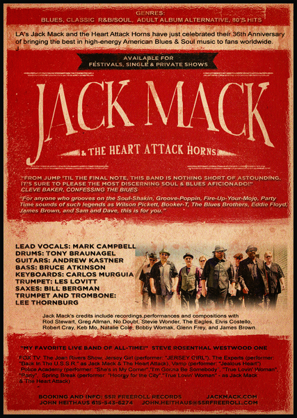 Jack Mack & The Heart Attack Horns Release New LP Honoring