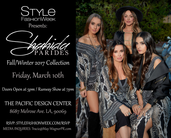 Women S Luxury Resort And Ready To Wear Clothing Brand Shahida Parides To Debut Their Fall Winter 2017 Collection On The Runway With Style Fashion Week Los Angeles