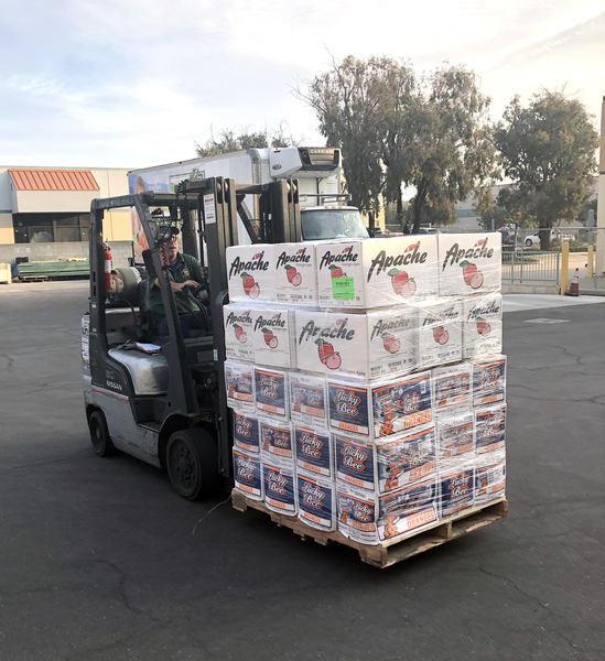 West Central Food Service Donates Trucks of Supplies to the