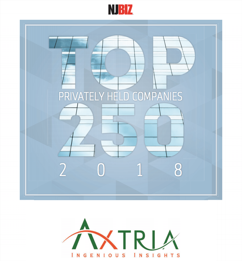 Axtria® Named to NJBIZ Top 250 Privately Held Companies List