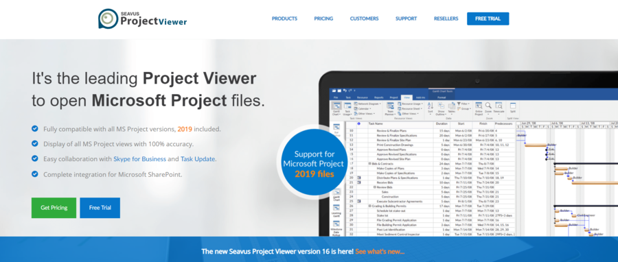 Open your Microsoft Project 2019 Files with the New Seavus