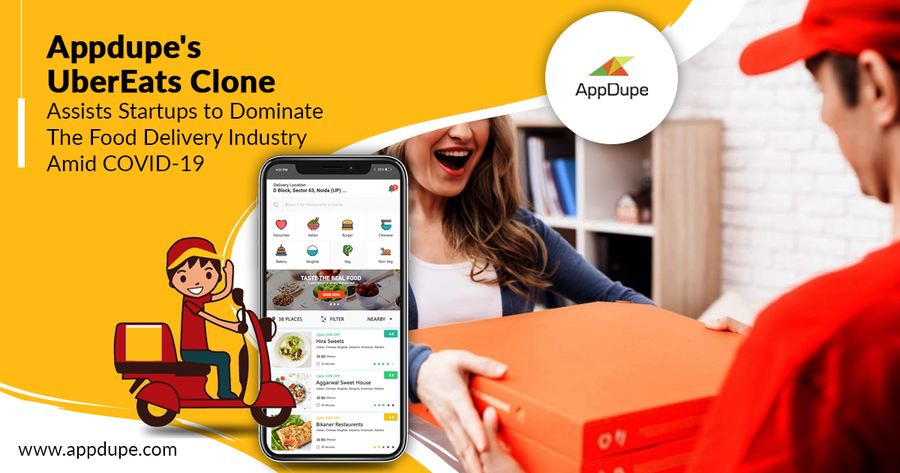 UberEats Clone – Startups Cater to Surging Food Delivery Demand With This Innovative Solution from Appdupe