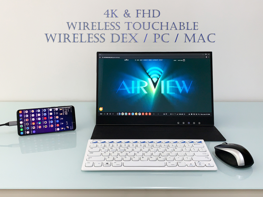 AirView2 Wireless DeX, 4K Portable Wireless Touchscreen Beyond The World Future