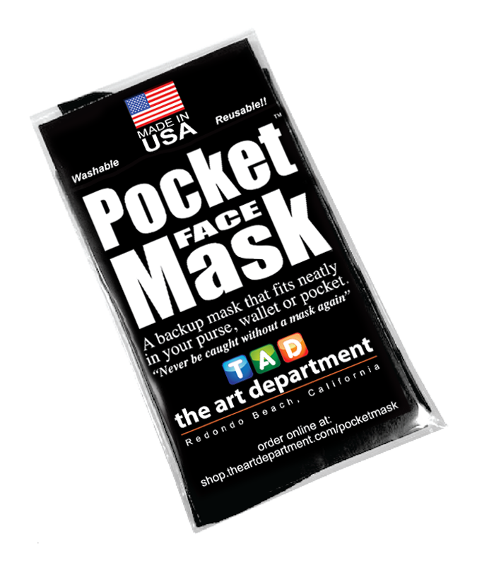 Never Forget Your Face Mask At Home With The Pocket FACE Mask From The Art Department
