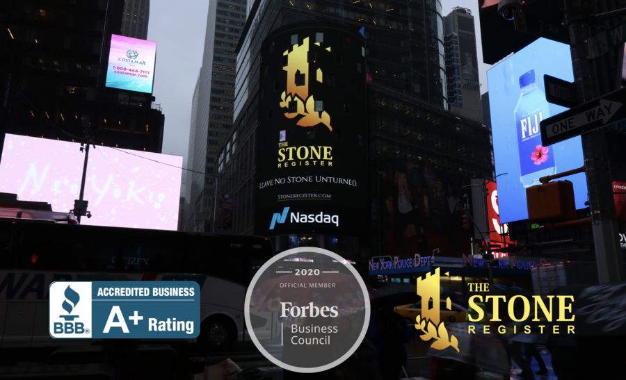 Forbes Recognizes The Stone Register for Exemplary Performance in Business and Marketing, Grants Business Council Distinction