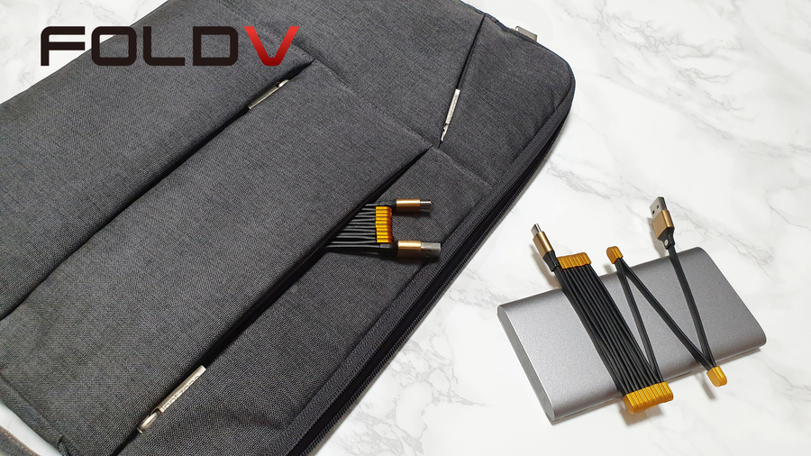 Announcing the Newly Designed Foldable Magnet Charging Cable, FOLDV, for Breaking Your Daily Routine