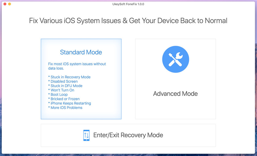 2020 UkeySoft Unveils iOS System Recovery to Fix Various iOS System issues