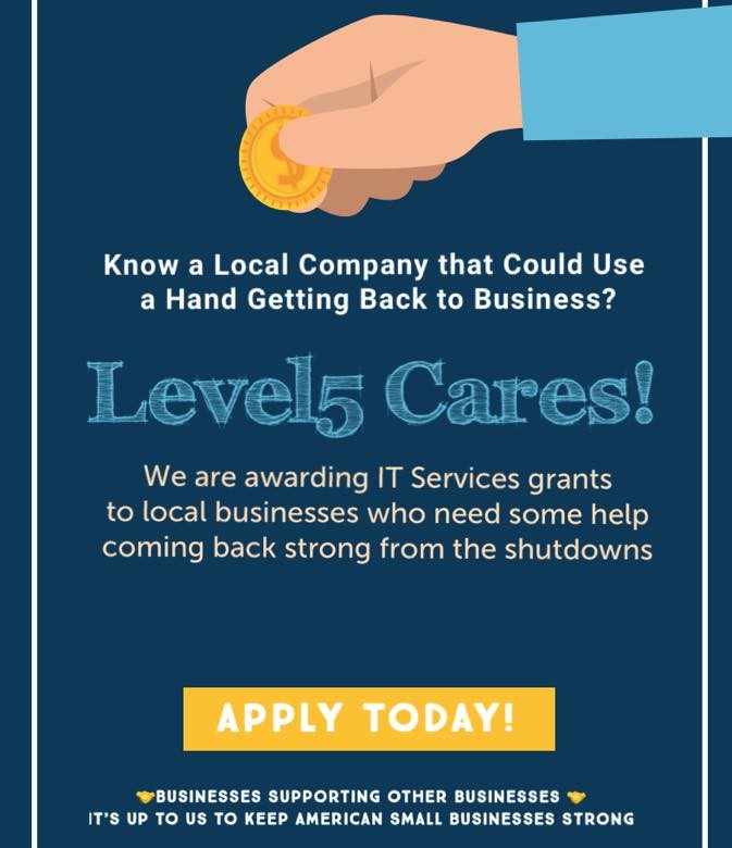 "Citing the Need for American Small Businesses to ""Stick Together,"" South Florida's Level5 Management Announces Another Round of Grants to Fellow Small Business Owners"