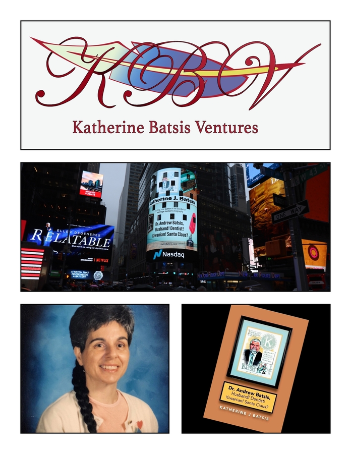 Acclaimed Author Katherine Batsis Debuts Special Podcast In Support of Her First Book, 'Dr. Andrew Batsis, Husband! Dentist! Kiwanian! Santa Claus?'