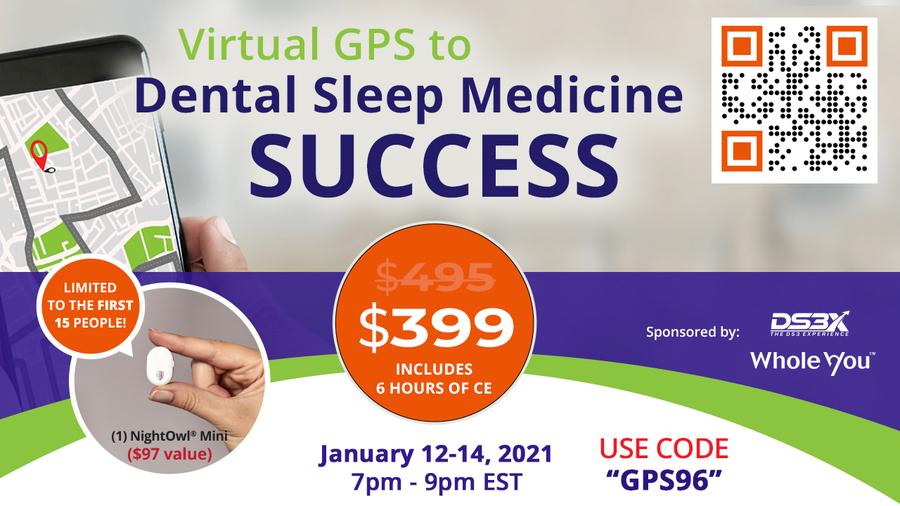Dental Sleep Solutions to Host Virtual 3 Day Course on Dental Sleep Medicine