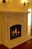 <strong>Noir Stone Fireplace from Milestone www.milestoneltd.com</strong>