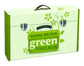 The Home Detox Green Toolbox contains all of the tools necessary to create a healthy home including air, lead and water test kits, a non-toxic cleaner, 4 audio Cd's and a bonus coupon.