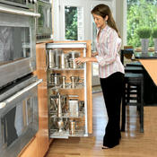 <strong>If you have trouble reaching into the cabinet, pull out organizers can help you get to everything you have stored there. Easier for people who use a wheelchair.</strong>