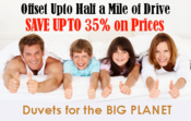 <strong>Upto 35% discount on eco friendly Duvets</strong>
