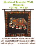 <strong>Buy this eco friendly wall hanging at discounted price PLUS see your eco footprint. Save money Save the Planet</strong>