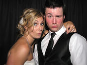 <strong>Bride and Groom having fun in our Photobooth that Rocks!</strong>