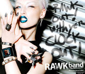 <strong>Manko, UK model and muse for artist Jason Atomic, in black leather RAWKband and ManGlaze Matte Nail Polish</strong>