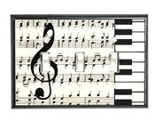 <strong>Classical Music - Keyboard & Treble Clef Ceramic Switch Plate</strong>