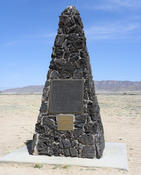 <strong>Monument where the world's first nuclear bomb was exploded in 1945.</strong>