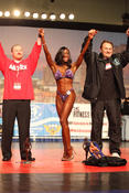 Shonda Lewis, Arnold Sports Festival amateur division winner, 2011 Arnold Sports Festival Rock Star Bikini creator and Rock Star Ring Girl co-creator
