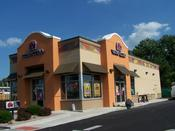 <strong>Exterior, commercial painting of Taco Bell in Xenia, after.</strong>