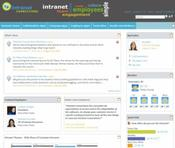 <strong>Screen Snap of Intranet Connections Social Intranet</strong>