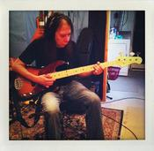 "RIck Rosas records bass for ""Ohio"" single."