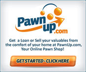<strong>PawnUp.com is a full-scale Pawn Shop Online: Get a low 5% interest on Pawn Loans or Sell your items outright. Free Evaluation, Shipping and Insurance of Your Valuables.</strong>