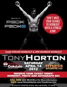 <strong>Workout with a Fitness Icon. Tony Horton creator of P90X and P90X 2 will lead two workouts on Saturday, April 14, 2012 at the Oakdale Theatre in Wallingford, CT</strong>