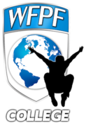 <strong>The College WFPF Logo which is the logo representing the College and University Division of the World Freerunning Parkour Federation</strong>