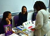 <strong>Visitor learns more about bone marrow donation from our partners at the Be the Match Registry</strong>