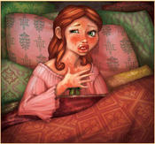 <strong>An illustration by Micah Chambers-Goldberg from The Princess and the Peanut: A Royally Allergic Fairytale.</strong>