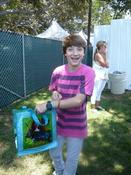<strong>Jake short enjoying his Click-itz bracelet.</strong>