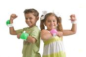 <strong>swiggies wrist water bottles are unique, hands-free hydration for kids on the go</strong>