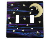 <strong>Glow-in-the-Dark Moon & Stars Switch Plate</strong>