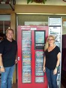 <strong>Independent DVD rental kiosk operators Bob Ennis and Randi Haas</strong>