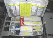 <strong>The Advanced Life Support Pack includes important items, such as saline solution, used for crew health purposes aboard the International Space Station. (NASA)</strong>