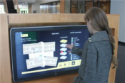 <strong>The University of Iowa - College of Public Health uses Visix digital signage software and custom interactive wayfinding designs from the company's creative services division.</strong>