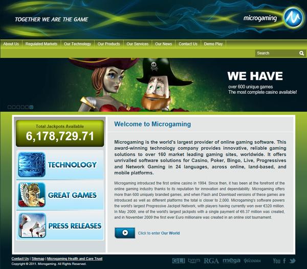 Online gambling provider