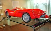 <strong>Quarter Scale Jeron Ferrari is a highlight of the Race Car Exhibit Held Over Until January 1.</strong>