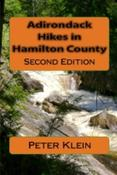 <strong>Front cover for the outdoor guide book, Adirondack Hikes in Hamilton County,</strong>